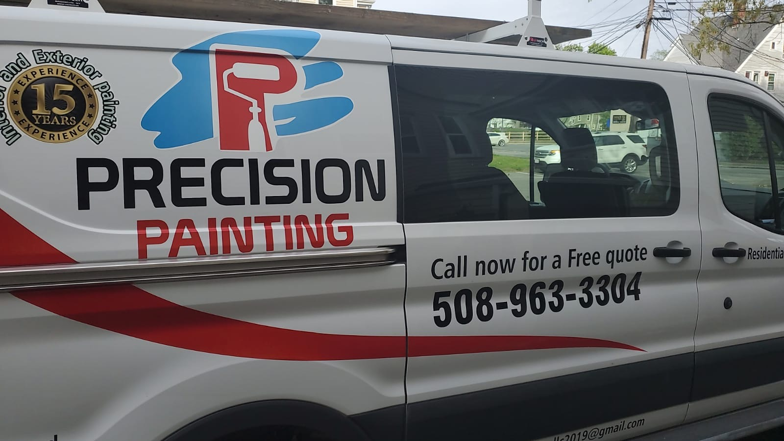 Precision Painting van with branding